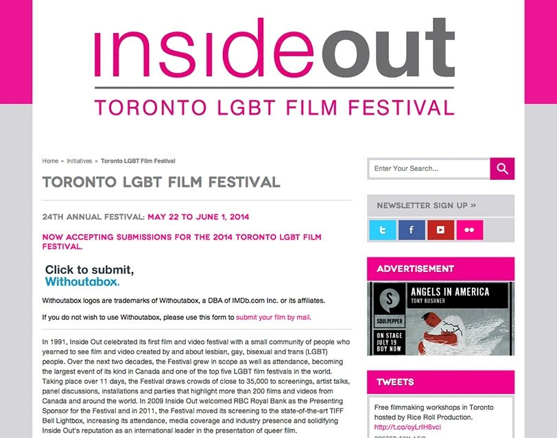 Inside Out Film & Video Festival
