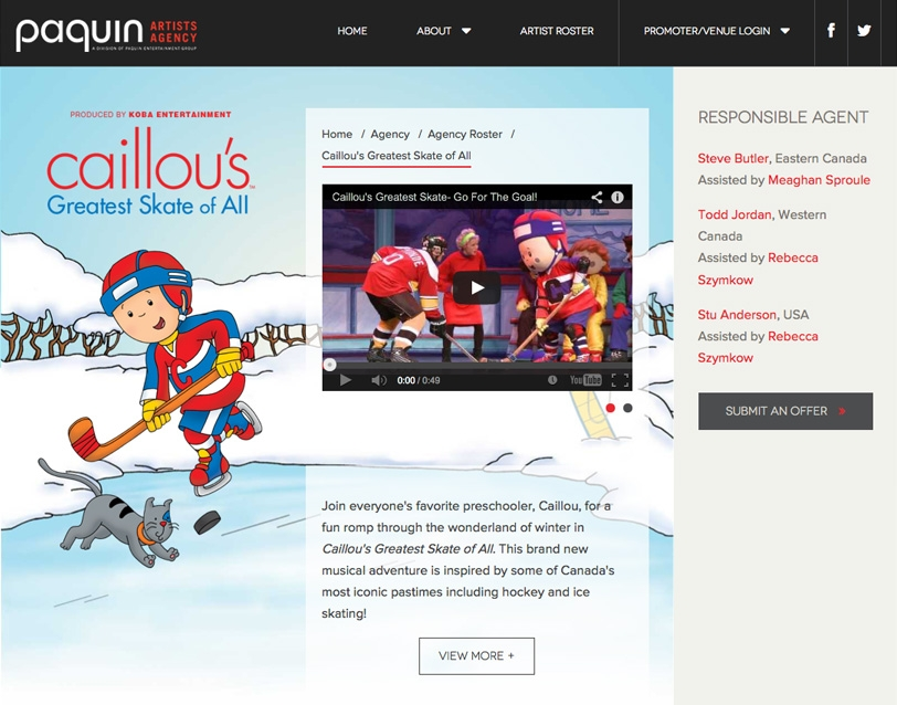Paquin Artists Agency